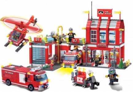 Конструктор  Пожарная станция (980 деталей) Enlighten Brick