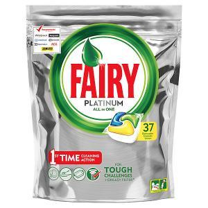 Капсулы для посудомоечной машины  Platinum All in One Лимон 37 шт/уп Fairy. Цвет: weiß/beige