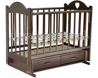 Детская кроватка  Иришка №3 поперечный маятник Ведрусс