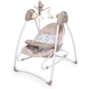 Электрокачели  Butterfly 2 в 1, бежевые Baby Care. Цвет: бежевый