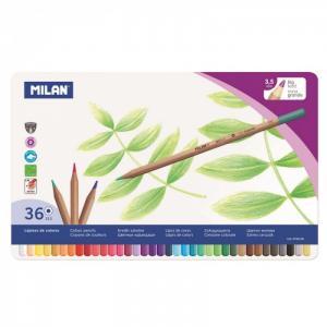 Карандаши цветные шестигранные 36 цветов в металлической упаковке 0726136 Milan
