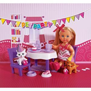 Кукла Еви с набором  День рождение питомцев, Simba
