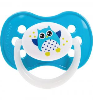 Пустышка  Owl Симметричная силикон, с 18 мес, цвет: бирюзовый Canpol