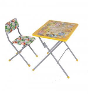 Комплект детской мебели  Досуг № 301, цвет: серый/желтый Фея