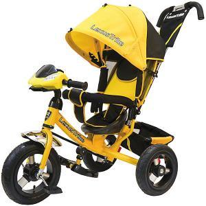 Трехколесный велосипед  с надувными шинами 12 и 10 Lexus Trike. Цвет: желтый