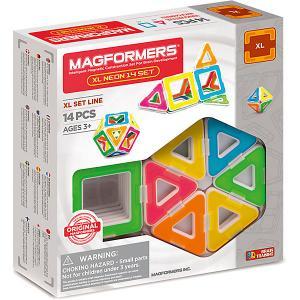 Магнитный конструктор Magformers XL Neon 14 set. Цвет: разноцветный