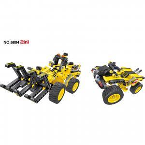 Конструктор Трактор для заготовки леса, 301 деталь, QiHui