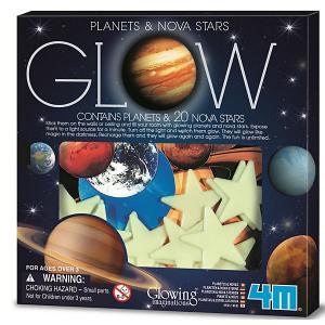 Набор для творчества  Светящиеся планеты и звёзды 4M. Цвет: разноцветный