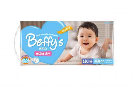 Подгузники  Extra dry для мальчиков (5-10 кг) 44 шт. Beffys