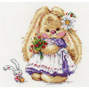 Набор для вышивания  Зайка Ми Земляника 13х13 см Алиса