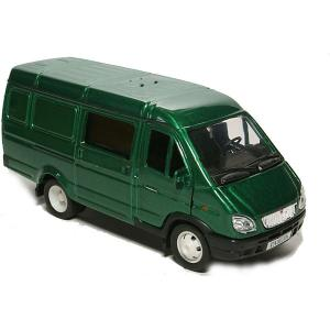 Машинка  Газель Комби, 1:43, зеленая Autotime. Цвет: зеленый