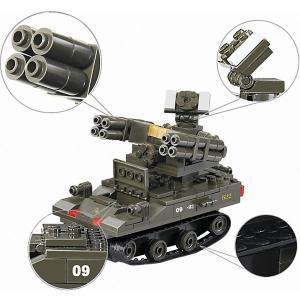 Конструктор  Армия: зенитный ракетный комплекс Тор-М1, 212 деталей Sluban