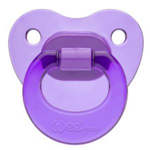 Соска-пустышка Weebaby ортодонтическая CANDY, от 6 мес., фиолетовая