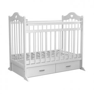 Кроватка  12, цвет: белый Briciola