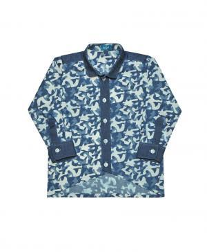 Рубашка , цвет: серый/синий The hip!