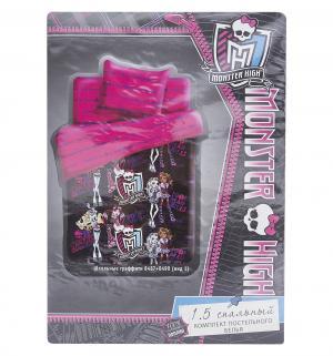Комплект постельного белья  Школьные графити 1.5 спальный, цвет: микс Monster High