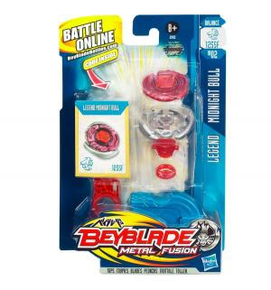 Волчок и пусковое устройство  Midnight Bull 21 см BeyBlade
