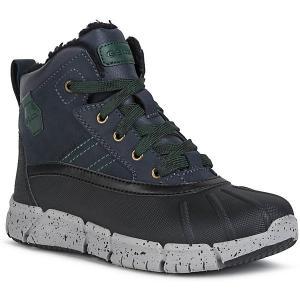 Утеплённые ботинки Geox. Цвет: синий/зеленый