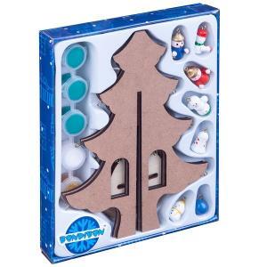 Набор для рисования  Новогодняя ёлочка-раскраска с игрушками Bondibon