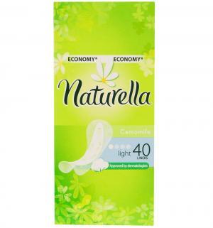 Прокладки ежедневные  Camomile Light, 40 шт Naturella