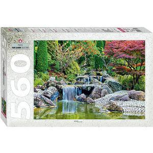 Мозаика puzzle 560 Каскадный водопад в японском саду Степ Пазл