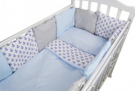 Комплект в кроватку  для овальной кроватки Anchor (16 предметов) Forest