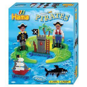 Термомозаика  Perlen Пираты + 1 основа, 3000 бусин Hama. Цвет: синий