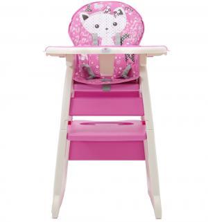 Стульчик для кормления  460, цвет: розовый Polini