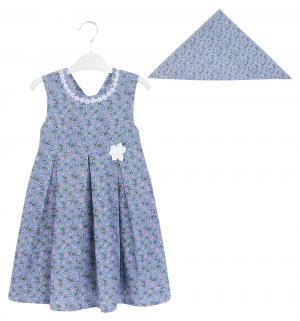 Платье , цвет: белый/бирюзовый M&D