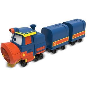 Паровозик с двумя вагонами Silverlit  Виктор Robot Trains. Цвет: разноцветный