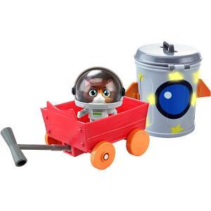 Игровой набор  44 котёнка Космо с транспортным средством Rainbow. Цвет: коричневый