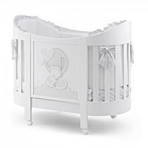 Детская кроватка  Love Oval с матрасом и комплектом белья (4 предмета) Italbaby