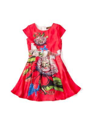 Платье  Цветы, цвет: красный I Love To Dream