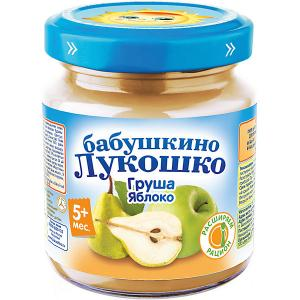 Пюре  груша яблоко, с 4 мес, 6 шт х 100 г Бабушкино Лукошко