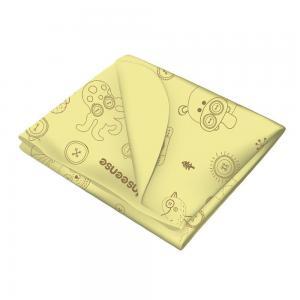 Клеенка  подкладная без обработки тесьмой с рисунком, 1 шт, цвет: желтый Inseense