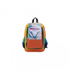 Рюкзак Оранжевое настроение с наушниками, цвет оранжевый синим 3D Bags