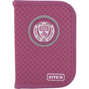 Пенал  College line p, без наполнения Kite. Цвет: розовый