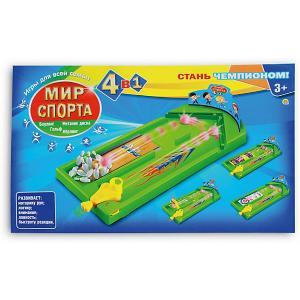 Комплект настольных игр 4в1  Мир спорта Рыжий кот