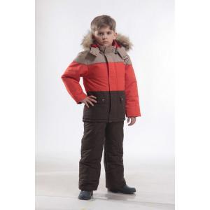 Куртка  Троя, цвет: оранжевый/коричневый Ursindo