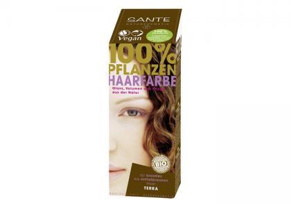 Растительная краска для волос Терра тёмно-русый 100 г Sante