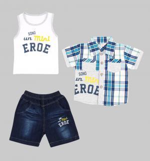 Комплект рубашка/майка/брюки , цвет: мультиколор Fun Time