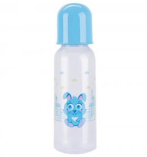 Бутылочка  полипропилен с рождения, 240 мл, цвет: голубой Курносики