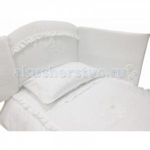 Комплект в кроватку  Медвежонок с кристаллами короткий борт (7 предметов) Andy & Helen