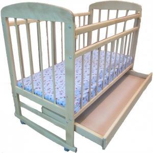 Детская кроватка  8 с ящиком 120x60 см (качалка) Мишутка