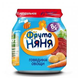 Пюре  говядина-морква-картофель-капуста с 8 месяцев, 100 г ФрутоНяня