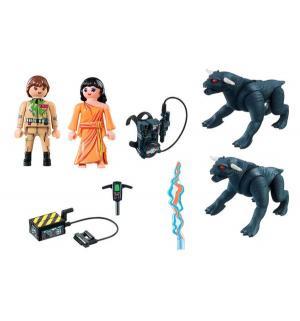 Игровой набор  Охотники за приведениями Питер Венкман и ужасные собаки Playmobil
