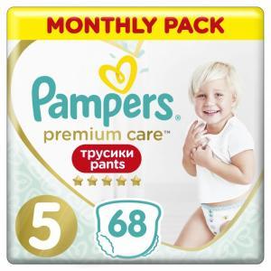 Подгузники-трусики Premium Care 5 p. (12-17 кг) 68 шт. Pampers
