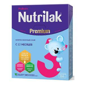 Молочный напиток  Premium 3, с 12 мес, 350 г Nutrilak