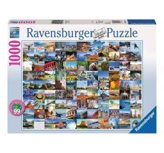 Пазл  99 красивых мест Америки и Канады 1000 шт. Ravensburger