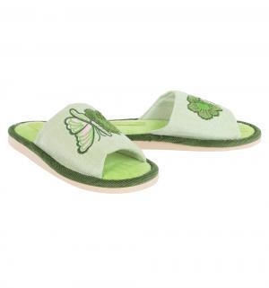 Тапочки , цвет: зеленый Effa